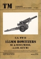 U.S. WW II 155mm Howitzers M1 & M1917 / M1918, 4,5-in Gun M1