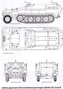 Ausf A /& B Modellbau Schützenpanzerwagen Sd.Kfz 251 Panzer Tracts 15-2: Mit
