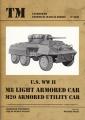 U.S. WW II M8 Light Armored Car M20 Armored Utilitiy Car